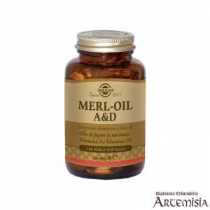 MERL-OIL A & D SOLGAR 100perle | Artemisiaerboristeria.it - 1427