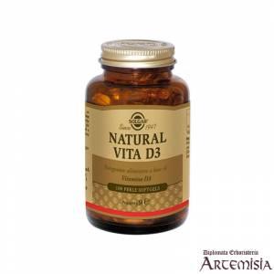 NATURAL VITA D3 SOLGAR 100perle | Artemisiaerboristeria.it - 1429